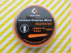 GeekVape Twisted Clapton Wire 28ga x 2(0.3x2)+32ga(0.2)