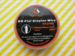 GeekVape SS316L Flat Clapton Wire, Ribbon(26GAx18GA)+32GA