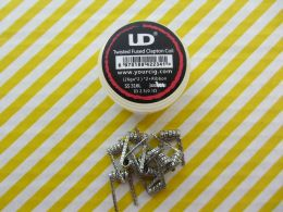 10шт. UD Twisted Fused Clapton SS316L Coil (26GAx2)x2+Ribbon